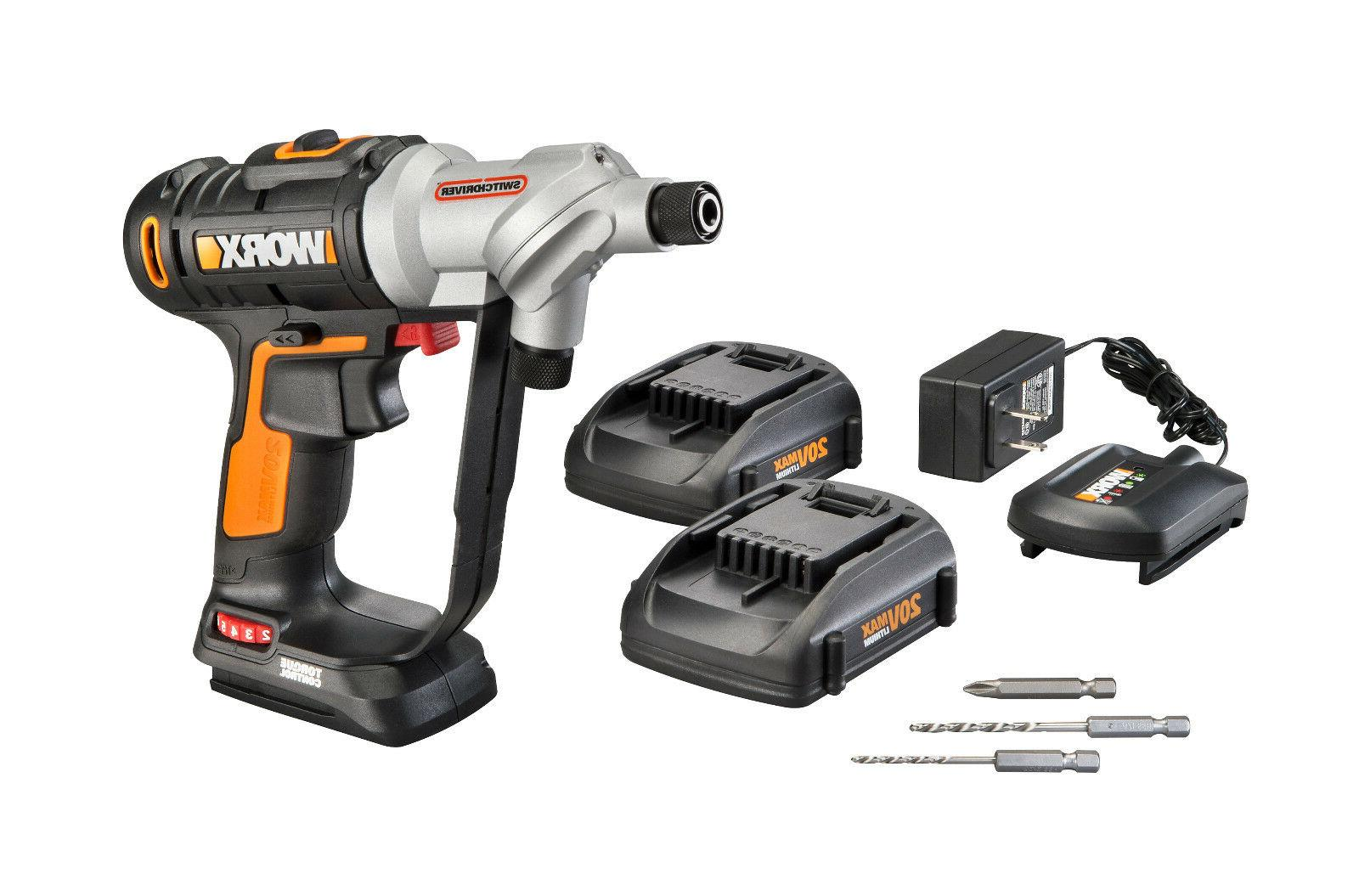 wx176l 5 switchdriver 20v powershare cordless drill