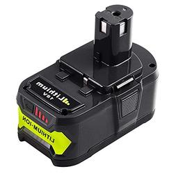 P108 4.0Ah Replace for Ryobi 18V Lithium ion Battery 18 Volt