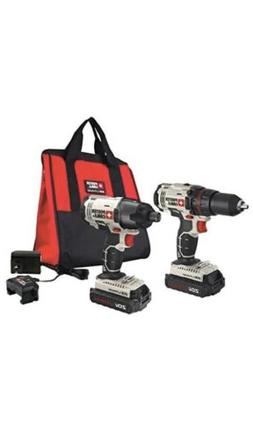 PORTER-CABLE 20V MAX Cordless Drill Combo Kit and Impact Dri