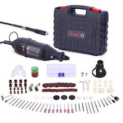 GOXAWEE Rotary Tool Kit with MultiPro Keyless Chuck and Flex