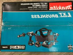 Makita XT268T 18V LXT Brushless 2-PC Combo Kit 5.0Ah 2 Batte